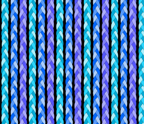 Blue braid fabric by loopy_canadian on Spoonflower - custom fabric