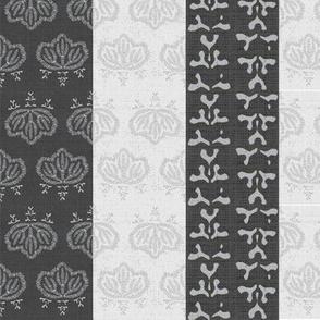 Kiri triple stripe - charcoal, ash, white