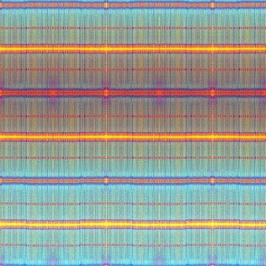 Seafoam blue and coral stripes