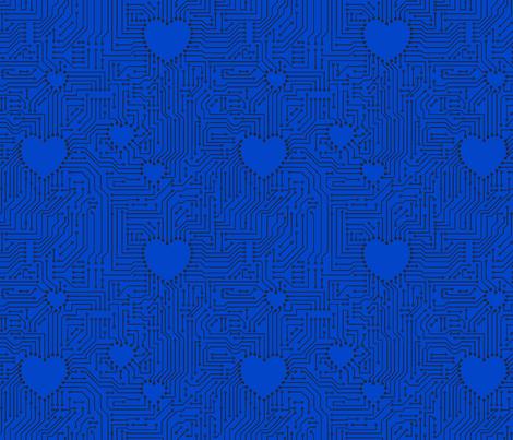 geekblue2 fabric by leopardessmoon on Spoonflower - custom fabric