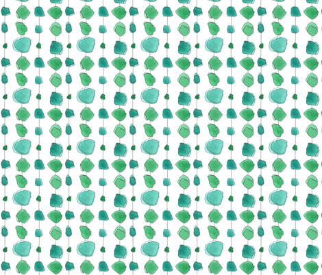 emerald curtain fabric by marystengel on Spoonflower - custom fabric