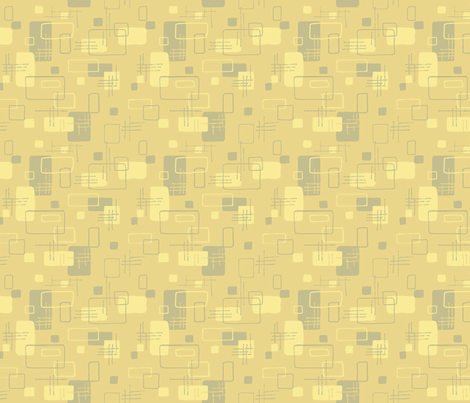 Modern Blocks Mustard fabric by vinpauld on Spoonflower - custom fabric