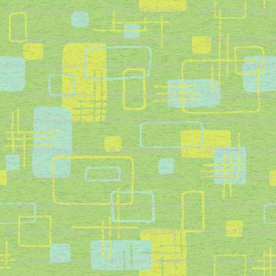 Modern Blocks Green Textured