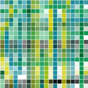 Dinosaur Mosaic - Blue