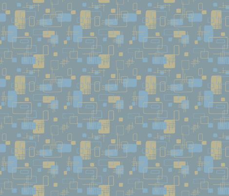 Modern Blocks Steel Gray fabric by vinpauld on Spoonflower - custom fabric