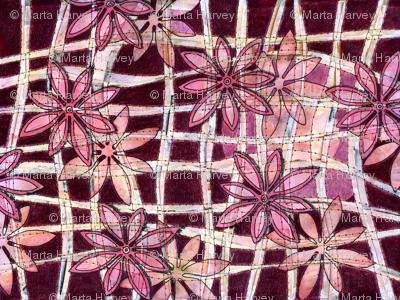 Flowers on Burgundy