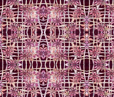 Flowers on Burgundy fabric by martaharvey on Spoonflower - custom fabric