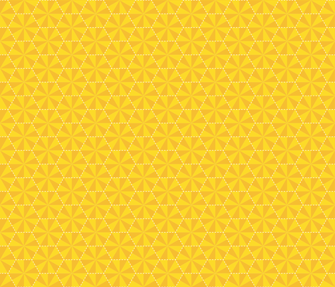 Electric Honeycomb fabric by hootenannit on Spoonflower - custom fabric