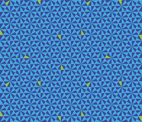 Electric Honeycomb-Bongo Blue fabric by hootenannit on Spoonflower - custom fabric