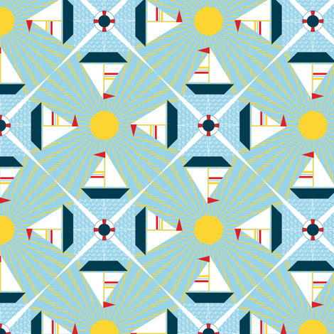 Sailing Along fabric by jjtrends on Spoonflower - custom fabric