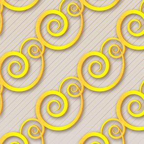 golden swirls