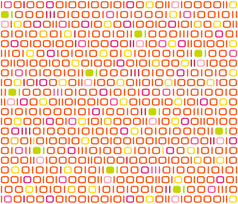 geekchic_in_binary_language_colorfull fabric by supersophie on Spoonflower - custom fabric