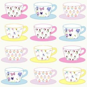 Teacups, Cream