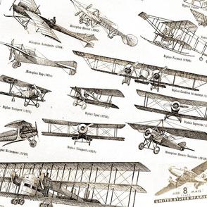 Vintage Planes - Cream