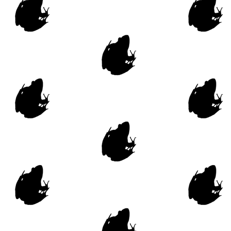 Frogs Silhouette Black fabric by animotaxis on Spoonflower - custom fabric