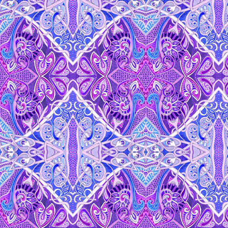Old Fashioned Twisted Paisley Victorian (in purples) fabric by edsel2084 on Spoonflower - custom fabric