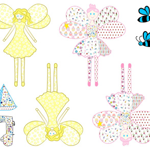Patchwork Fairy Doll Fabric