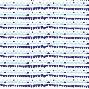 Confetti stripes blue