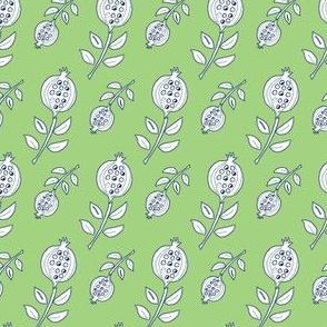 Pomegranite Pods green