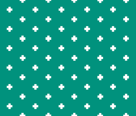 spaced out plus in kelly green fabric by candykirbydesigns on Spoonflower - custom fabric