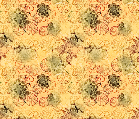 red fabric by kociara on Spoonflower - custom fabric