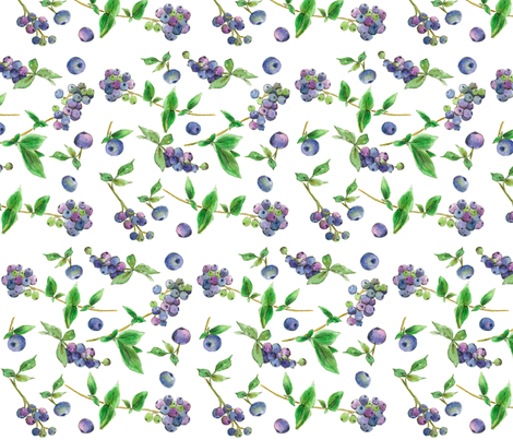Blueberries fabric by countrygarden on Spoonflower - custom fabric
