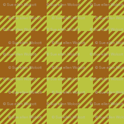 Brown_and_Apple-Green_Eighth-inch Checks