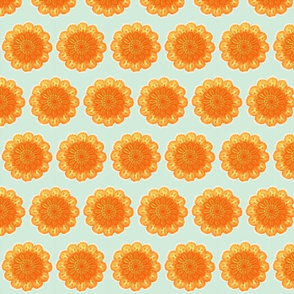 Doilies Orange and Blue
