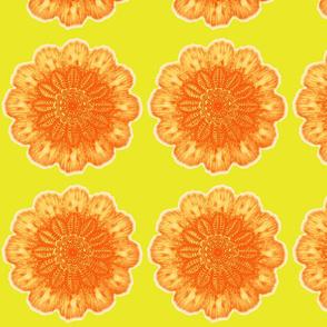Doilies yellow and orange