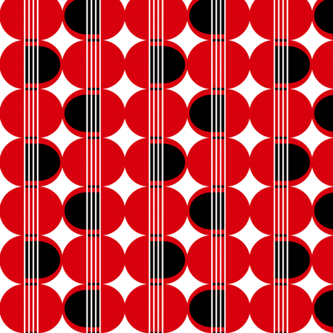 red guitar  fabric by ottomanbrim on Spoonflower - custom fabric