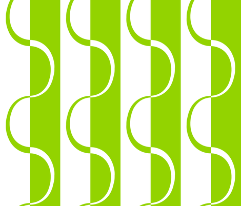 mod_lime_curve_stripe fabric by victorialasher on Spoonflower - custom fabric