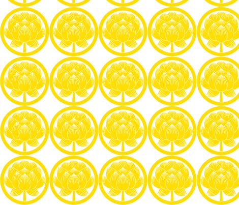 Shinzo Lily gold fabric by flyingfish on Spoonflower - custom fabric