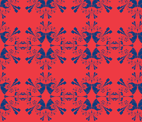 Mod Inspired Fractal  fabric by clotilda_warhammer on Spoonflower - custom fabric
