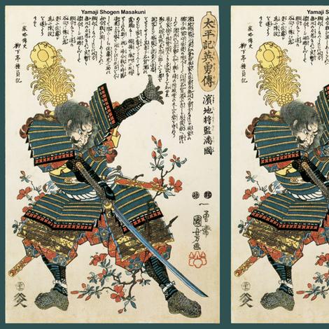 Yamaji Shogen Masakuni fabric by craftyscientists on Spoonflower - custom fabric
