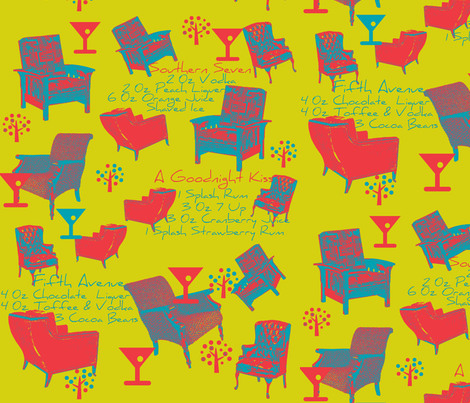 Cocktails at Our Place  fabric by artland95 on Spoonflower - custom fabric