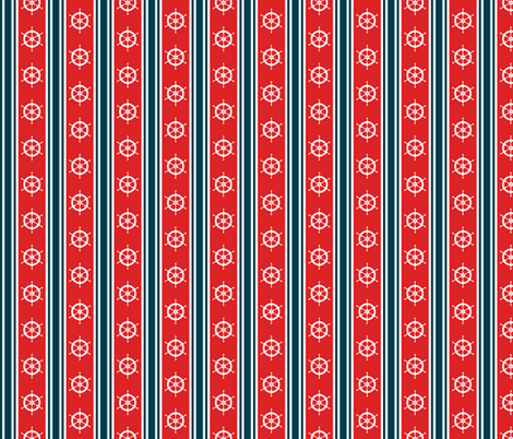 Nautical Stripe fabric by jjtrends on Spoonflower - custom fabric