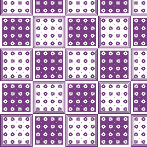 Flower Squares Large - Purple