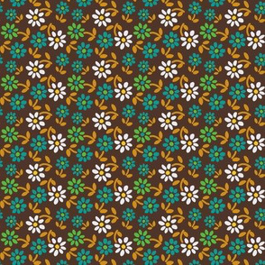 Tiny Flowers - Brown