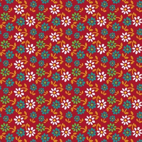 Tiny Flowers - Red