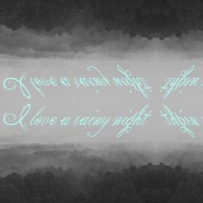 I love a rainy night pillow set