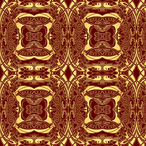 Chocolate Raspberry Creme Brulee fabric by edsel2084 on Spoonflower - custom fabric