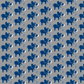 Let's be Friends in Navy Blue and Grey Elephant and Mouse