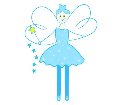SparkleBlue Fairy fabric by de-ann_black on Spoonflower - custom fabric