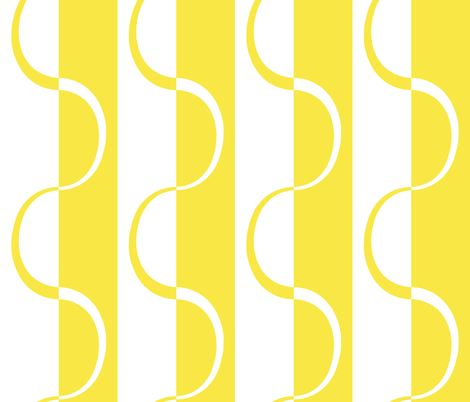 mod_lemon_curve_stripe fabric by victorialasher on Spoonflower - custom fabric