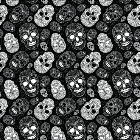 Skull Paisley fabric by sugarxvice on Spoonflower - custom fabric