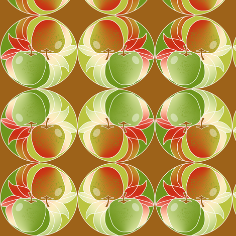 Yin Yang Apples fabric by eclectic_house on Spoonflower - custom fabric
