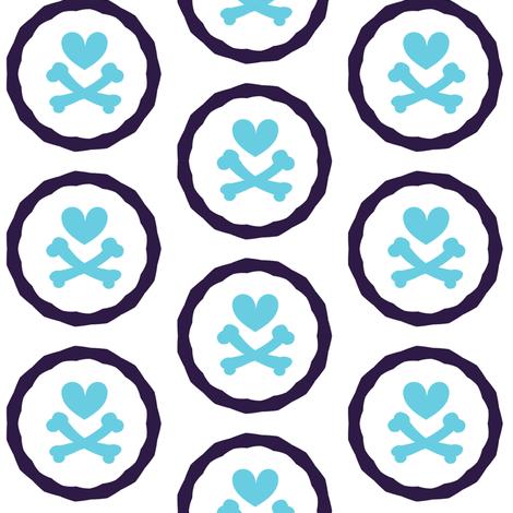 Heartskulls Rings - Punky Net - Retro Punky!- Just Like The 60's  - © PinkSodaPop 4ComputerHeaven.com fabric by pinksodapop on Spoonflower - custom fabric