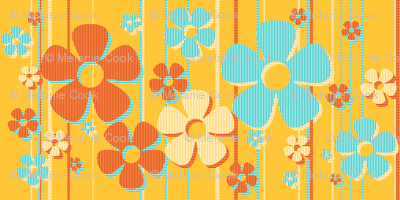 Striped Daisies - caramel