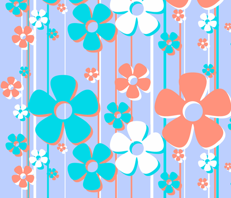 Daisies - cotton candy fabric by wiccked on Spoonflower - custom fabric