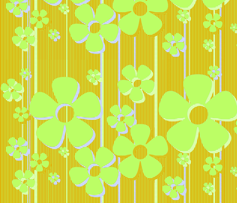 Buttercups - Key Lime fabric by wiccked on Spoonflower - custom fabric